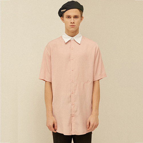 [13month]BELTED HALF LONG SHIRT (PINK)