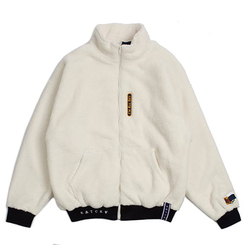 [ROMANTICCROWN] YETI ZIP UP JAKET OATMEAL_SEVENTEENホシ