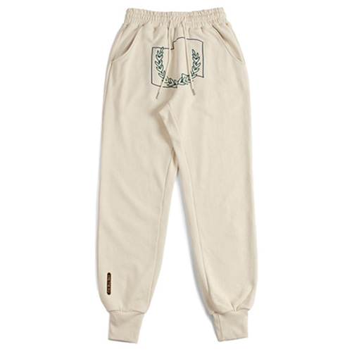 [ROMANTICCROWN] LAUREL CROWN JOGGER PANTS OATMEAL