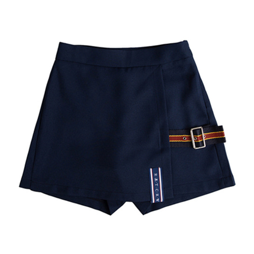 [ROMANTICCROWN] LAP SKIRT PANTS NAVY
