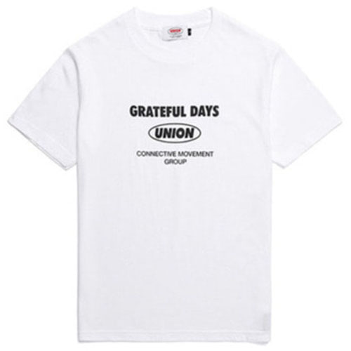 [UNION OBJET] TEXT LOGO T-SHIRT WHITE