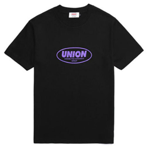 [UNION OBJET] ROUND LOGO T-SHIRT BLACK
