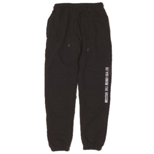 [JUSTO] ANTIRACISM SWEATPANTS BLACK