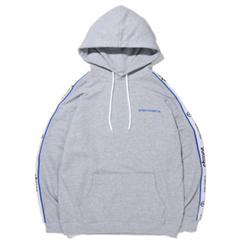 [BORN CHAMPS]BC NEW TAPE LOGO HOODY GREY CERAMHD02GY
