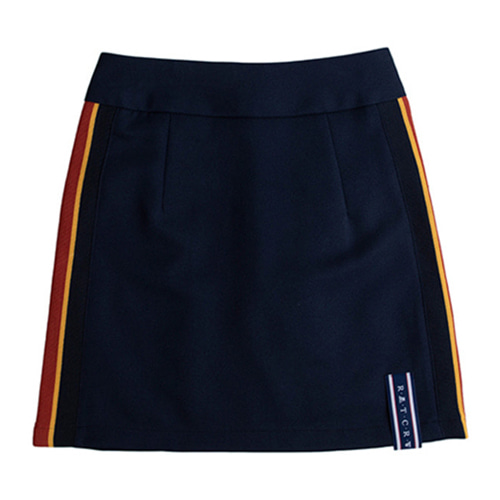 [ROMANTICCROWN] BAND LINE SKIRT NAVY