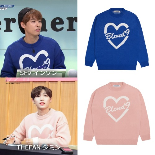 [BLOND9]Heart Knit Sweater 2color_SF9