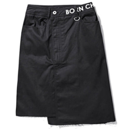 [BORN CHAMPS]W LOGO SKIRT BLACK CERBGSK02BK