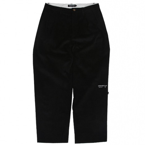 [APOC] CLASSIC FIT CORDUROY PANTS BLACK