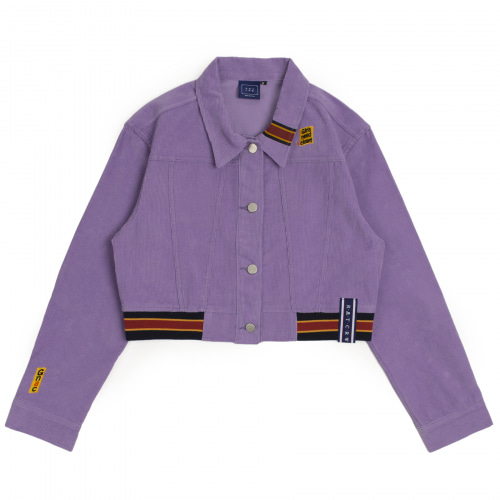 [ROMANTICCROWN WOMAN] GNAC CORDUROY JACKET PURPLE