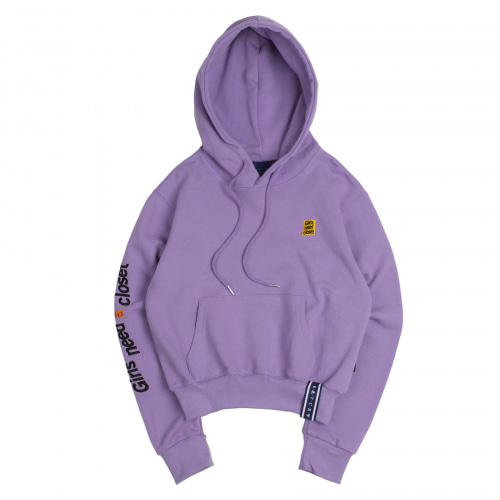 [ROMANTICCROWN WOMAN] GNAC CLOSET HOODIE PURPLE