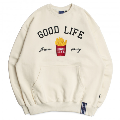 [ROMANTICCROWN] 10TH GOOD LIFE SWEATSHIRT OATMEAL