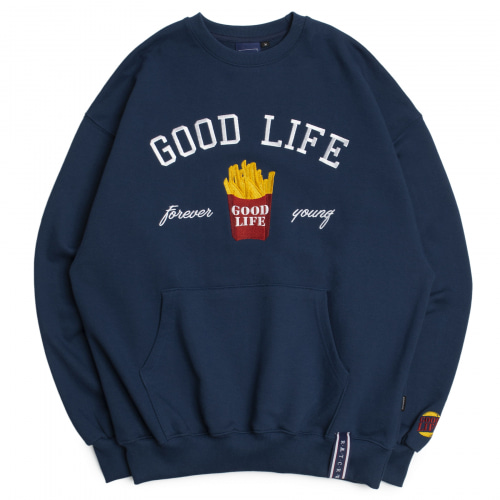 [ROMANTICCROWN] 10TH GOOD LIFE SWEATSHIRT BLUE
