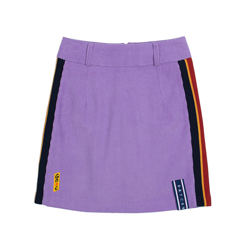 [ROMANTICCROWN WOMAN] GNAC CORDUROY SKIRT PURPLE