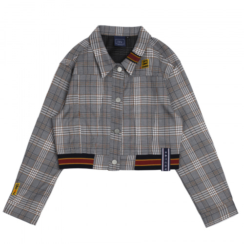 [ROMANTICCROWN WOMAN] GNAC CHECK JACKET BLACK