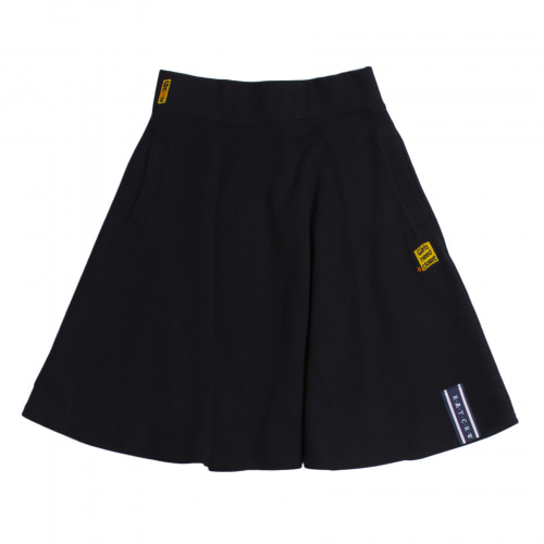 [ROMANTICCROWN WOMAN] MID LINE FLARE SKIRT NAVY