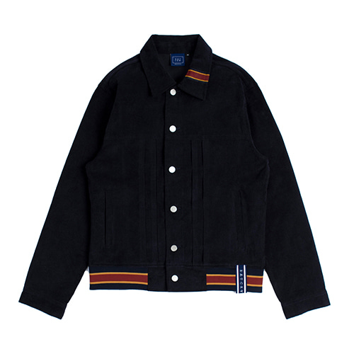 [ROMANTICCROWN] COLOR TAPE CORDUROY JACKET NAVY