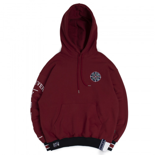 [ROMANTIC CROWN] 10TH FOREVER YOUNG HOODIE BURGUNDY