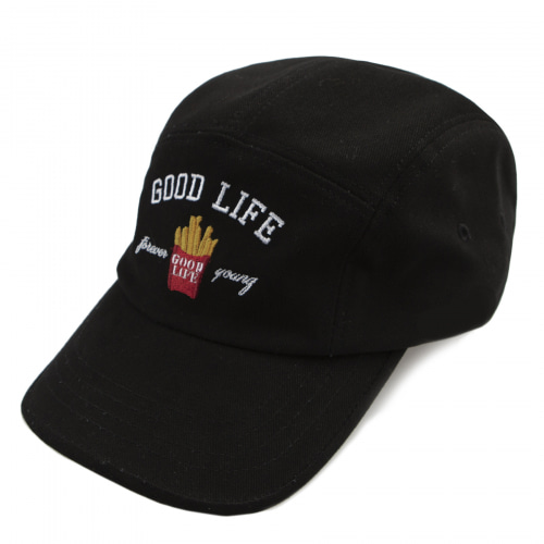 [ROMATIC CROWN] 10TH GOOD LIFE CAMP CAP BLACK