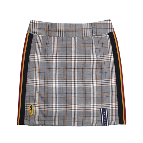 [ROMANTICCROWN WOMAN] GNAC CHECK SKIRT BLACK