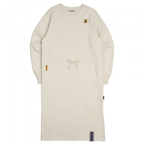 [ROMANTICCROWNWOMAN] GNAC SWEAT DRESS OATMEAL