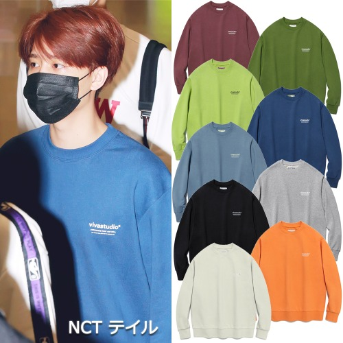 [VIVASTUDIO]LOCATION LOGO CREWNECK 9COLORS_NCT TWICE