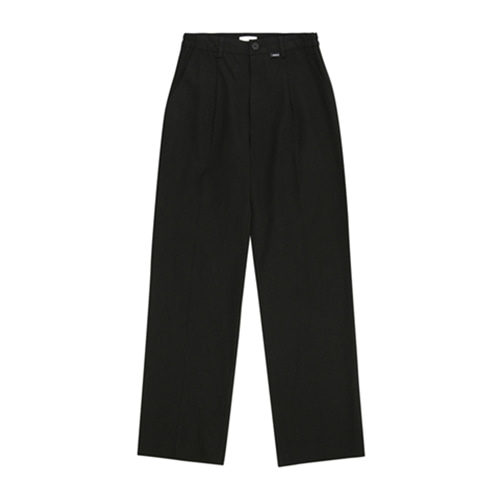 [13MONTH] LINEN SET WIDE PANTS BLACK