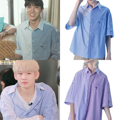 [WAIKEI]Hot Summer Open sleeve Pattern Mix shirts 2COLOR_BTS/JBJ95