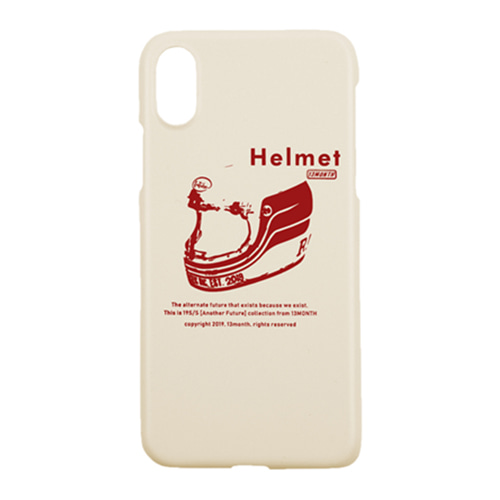 [13MONTH] HELMET IPHONE CASE IVORY