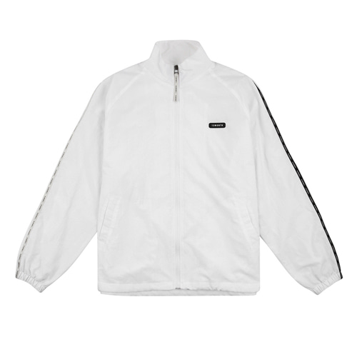 [13MONTH] LOGO TAPING TRACK JACKET WHITE