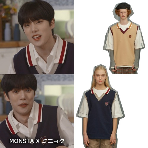 [UNALLOYED]COLLAR VEST 2COLOR_MONSTAX