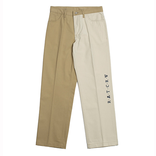 [ROMANTIC CROWN] TONE ON TONE COTTON PANTS BEIGE