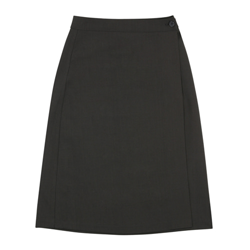 [13MONTH] LOGO WRAP SKIRT GRAY