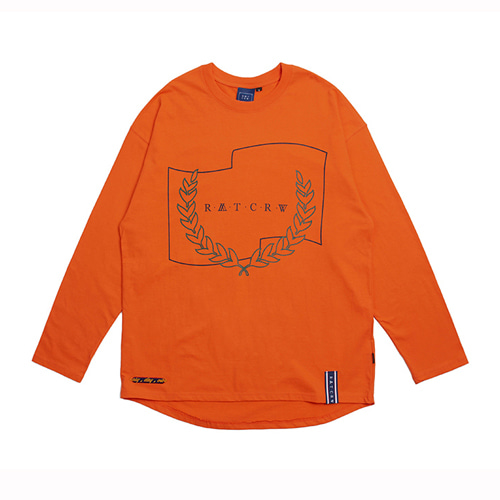 [ROMANTIC CROWN] RMTCRW LONG SLEEVE ORANGE