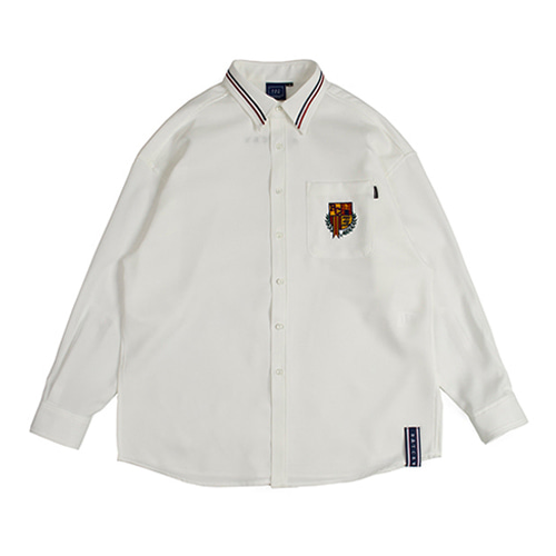 [ROMANTIC CROWN] RMTCW COLLAR PIPING SHIRT WHITE