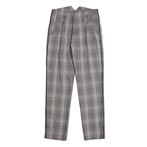 [ROMANTIC CROWN] CLASSIC NEWSBOY CHECK PANTS BLACK