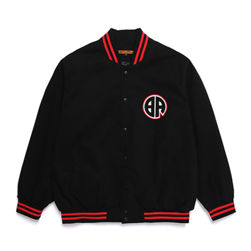 [BURIEDALIVE] BA STADIUM JACKET BLACK