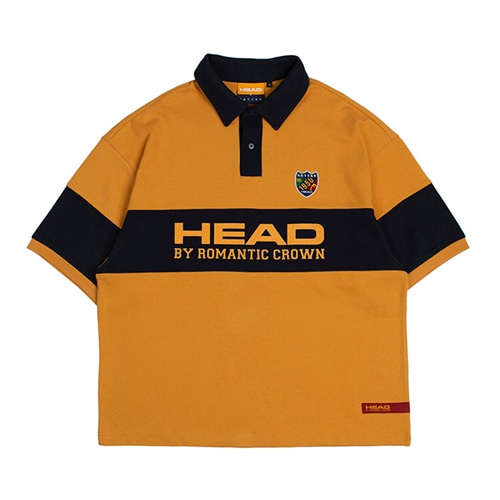 [ROMANTICCROWN] HEAD BY RMTC POLO T SHIRT YELLOW