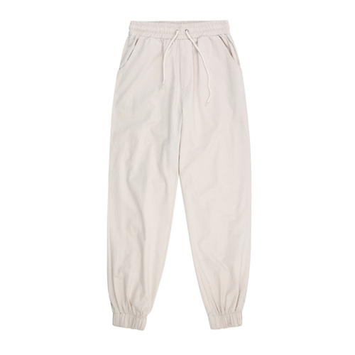 [13MONTH] COTTON JOGGER BANDING PANTS IVORY