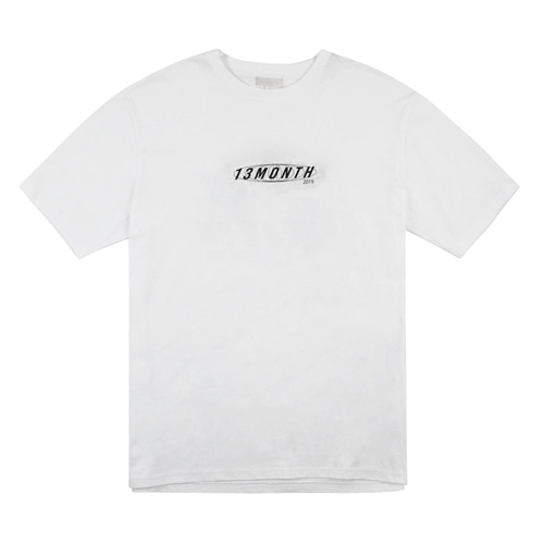 [13MONTH] LOGO GLOBE HALF SLEEVE T-SHIRT WHITE