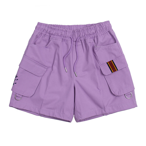[ROMANTIC CROWN] E.D.V CARGO SHORT PANTS PURPLE