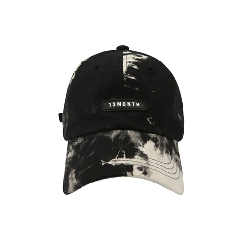 [13MONTH] WATER PRINT LOGO BALL CAP BLACK
