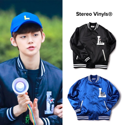 [STEREO VINYLS] SATIN BASEBALL JUMPER 2COLORS_TXT/NCT