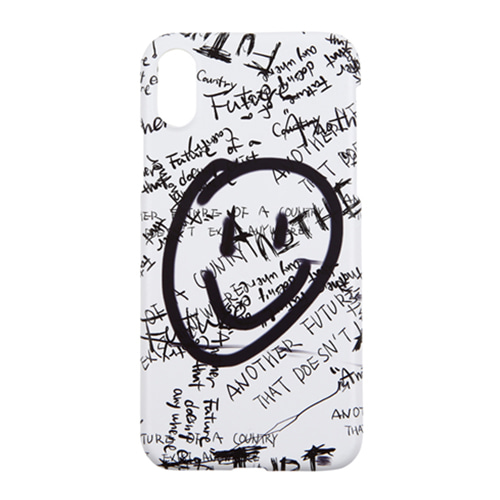 [13MONTH] SMILE GRAFFITI IPHONE CASE WHITE