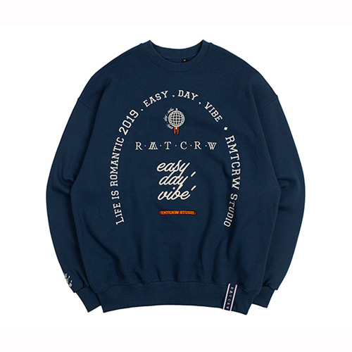 [ROMANTIC CROWN] RMTCRW STUDIO SWEATSHIRT BLUE