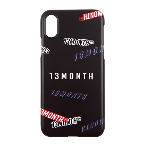 [13MONTH] MULTI LOGO I-PHONE CASE BLACK