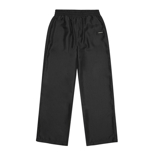 [13MONTH] SATIN WIDE BANDING PANTS BLACK