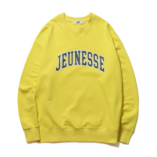 [JEUNESSE] SIGNATURE LOGO SWEATSHIRTS YELLOW