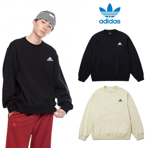 [adidas] Relax oversize crew neck 2COLORS