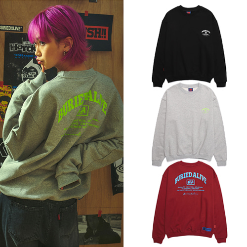 [BURIEDALIVE] BA A-TYPE SWEATSHIRTS 3COLOR