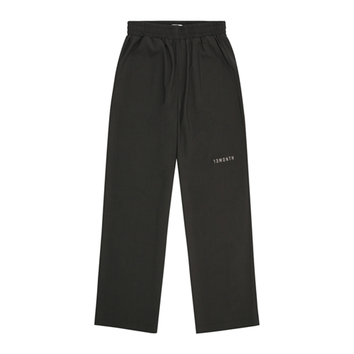 [13MONTH] LOGO WIDE BANDING SLACKS GRAY